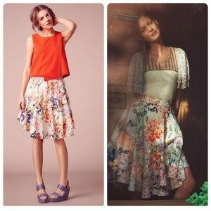 Anthropologie Jardin Skirt by Ranna Gill